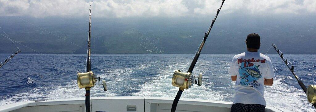 Deep sea sportfishing in kailua kona hawaii hooked up for Kona deep sea fishing