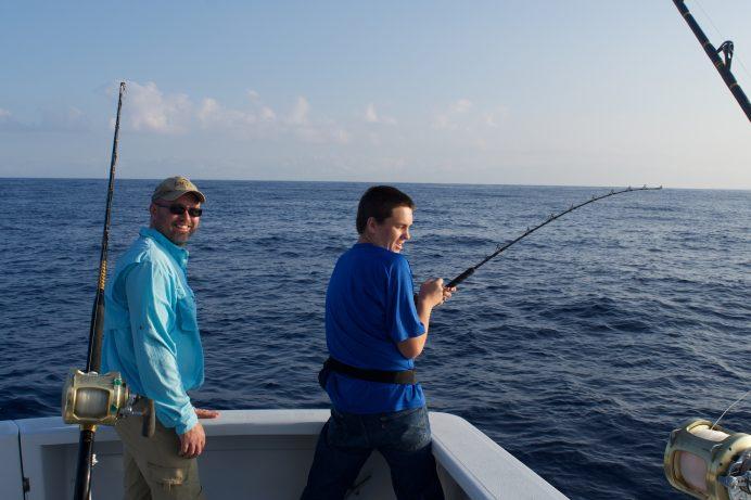 deep sea charter kona fishing boat