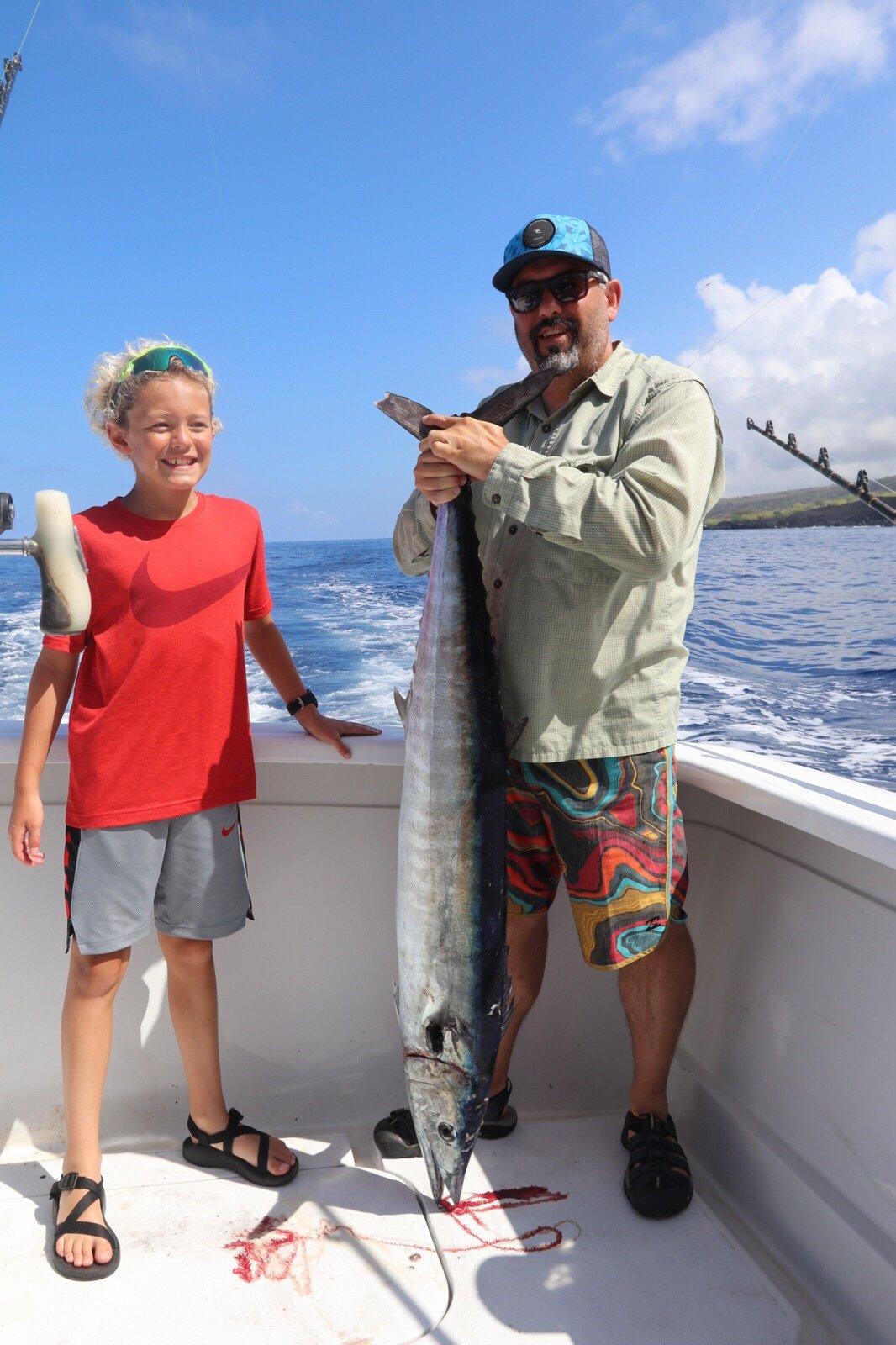 Family fishing trips Kona Hawaii