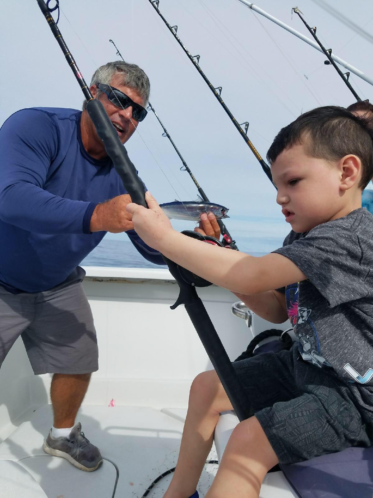Family fishing charter Kona
