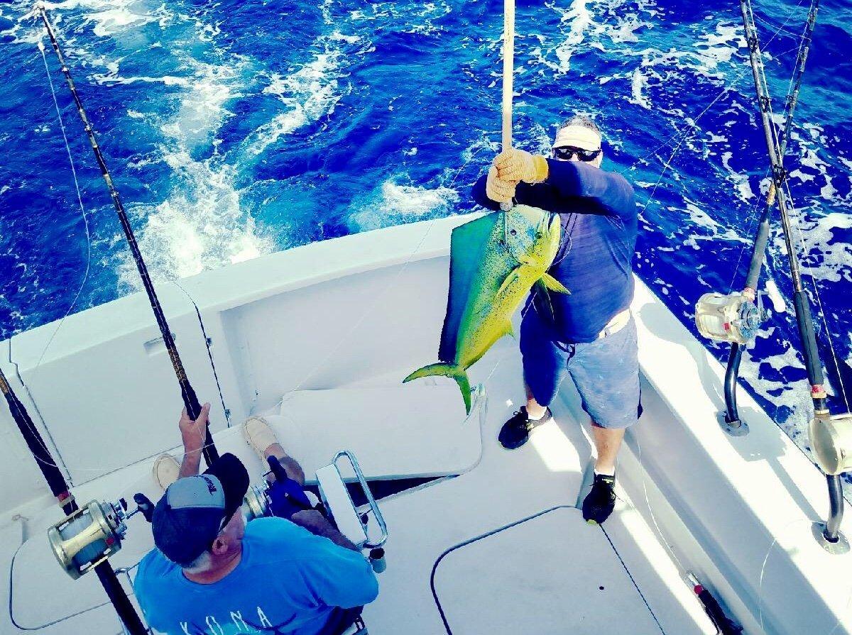Mahi Mahi fishing Kona Hawaii