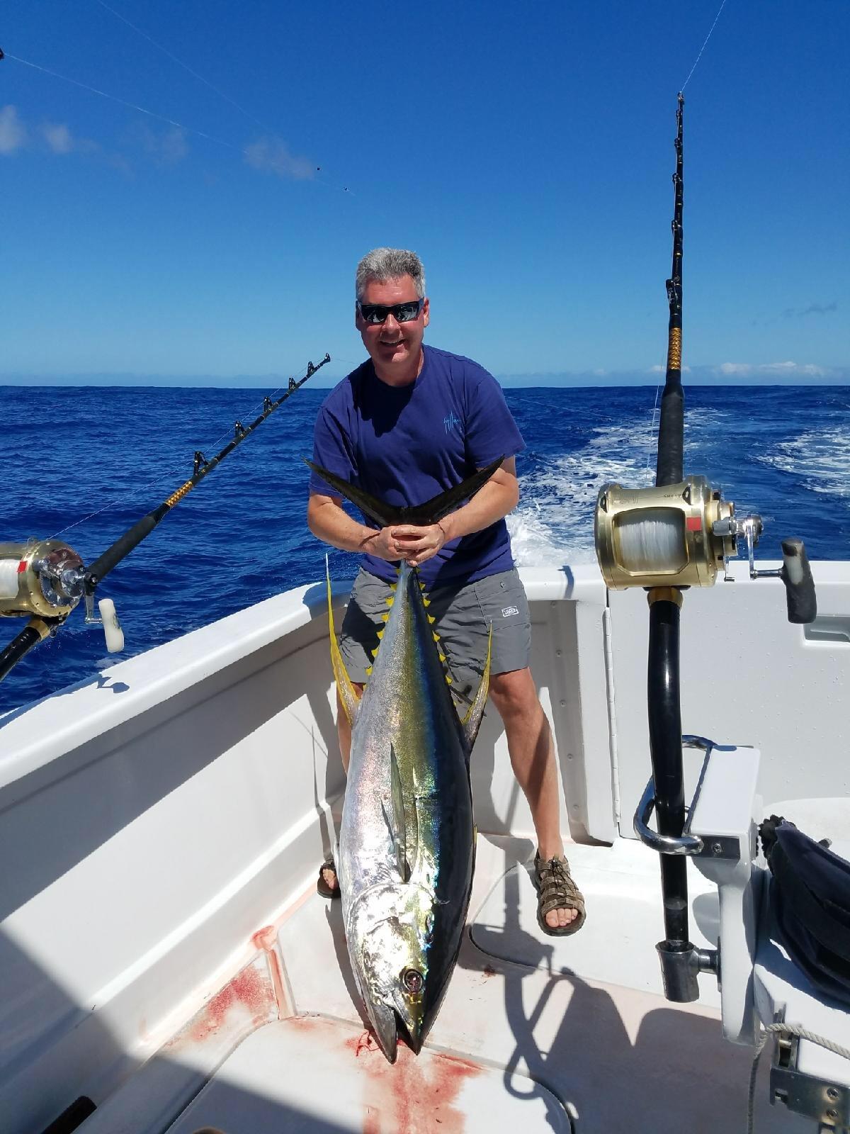 Tuna fishing Kona