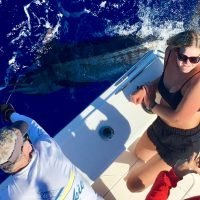 Customer with their Blue Marlin!