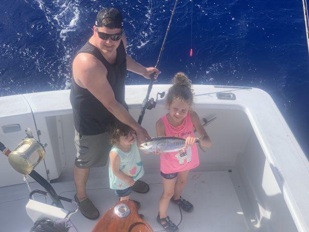 Fun family fishing trip.